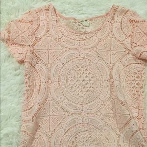 PacSun Pink Doily Top
